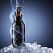 Cold Beer With Chill Smoke — Stock Photo