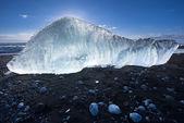 Lody na plaży lodu — Zdjęcie stockowe