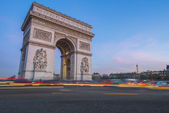 Arch of Triumph at sunset — Stock Photo
