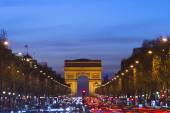 Arc de triomphe at sunset — Stock Photo