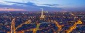 Eiffel Tower in sunset — Stock Photo