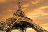 Torre eiffel al amanecer — Foto de Stock