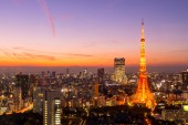 Tokyo Tower in the evening — Stock Photo