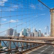 New York City Skyline from Brooklyn Bridge — Stock Photo #52748273