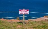 Erosion Stay Back Sign — Stock Photo