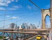 New York City Skyline from Brooklyn Bridge — Stock Photo