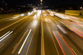 Short Light Trails on a Highway — Stock Photo