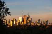 Toronto Downtown at Sunrise — Stock Photo