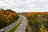 Cars on the Don Valley Highway — Stock Photo