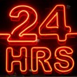 24 Hours Sign — Stock Photo #60218595