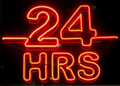 24 Hours Sign — Stock Photo