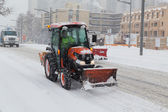 Tractor Helping Shift Snow in Toronto — Stock Photo