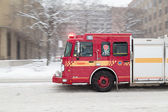 Toronto Fire Truck Moving down a Road — Stock Photo