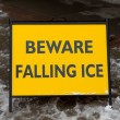 Danger Watch for Falling Ice and Snow Sign — Stock Photo #60574639