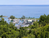 High View of Port at Bluffers Park — Stock Photo
