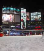 Yonge and Dundas Square in the Winter — Stock Photo