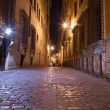 Pedestrian Paths between Buildings in Central Rome at Night — Stock Photo #69120795