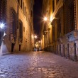 Pedestrian Paths between Buildings in Central Rome at Night — Stock Photo #69122555