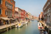 Buildings and boats in Murano — Foto de Stock
