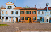 Buildings in Burano — Stock Photo