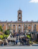 Cordonata Steps in Rome at Capitoline Hill — Stock Photo