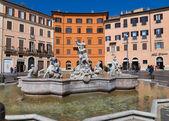 Fountain at Piazza Navona Rome — Stock Photo