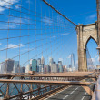 new york city skyline da ponte de brooklyn — Fotografia Stock  #75978677