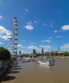 Westminster and London Eye — Stock Photo