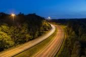 Bendy Highway at Night — Stock Photo