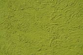 The texture of light green walls painted large erratic strokes o — Stock Photo