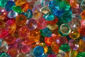 Colored Crystal Rhinestones close up as background — Stock fotografie