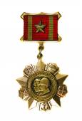 """Medal """"For Distinction in Military Service  I degree on a white — Stock Photo"""
