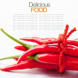 High key studio macro off red chilli on white background copy s — Stock Photo #70458197