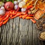Thai food Cooking ingredients. - spice tast — Stock Photo #74613323