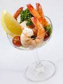 Shrimp Cocktail Isolated on a White Background. — Stock Photo