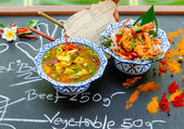 Authentic thai cuisine with decoration and flavour. — Stock Photo