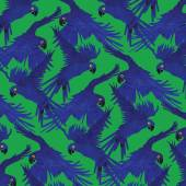Pattern with macaw parrots. Hand drawn vector. — Stock Vector
