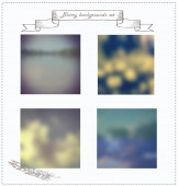 Set of blurry vinyage style backgrounds. — Stock Vector
