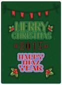 Christmas card. Vector — Stock Vector