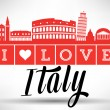 I Love Italy Typography Design — Stock Vector #53531033