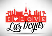 I Love Las Vegas Typography Design — Stock Vector