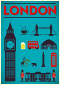 London City Poster Design — Stock Vector