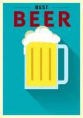 Best Beer Poster Illustration — Stock Vector
