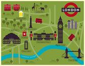 London City Map Illustration — Stock Vector