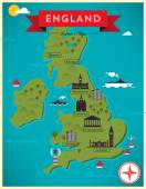 Map of England Illustration — 图库矢量图片