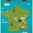 Colorful Map of France — Stock Vector #65818945