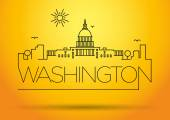 Washington D.C. City Line Silhouette — Stock Vector