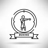 Boxing Sport Stroke Icon — Stock Vector