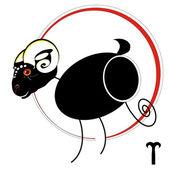 牡羊座の星座 — ストックベクタ