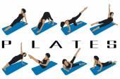 Pilates — Stock Vector